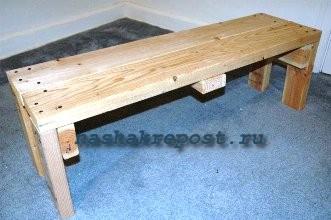 Как сделать скамейку без спинки из досок