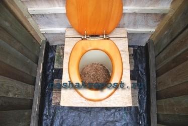 Использование торфяного туалета