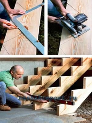 Основание для лестницы для крыльца