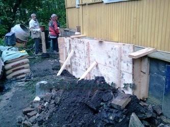 опалубка для ремонта фундамента