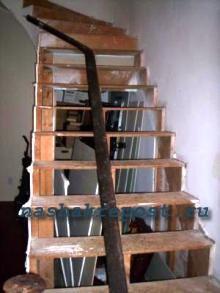 Лестница из дерева своими руками.