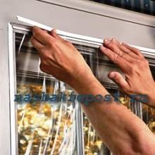 Закрытие щелей в окнах.