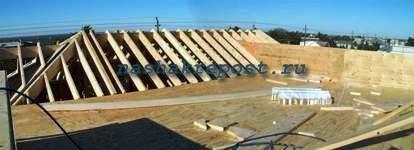 фото стропильная система вальмовой крыши - Рабочие схемы и описания в работе.