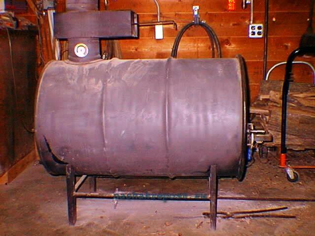 Газогенераторная печь из бочки