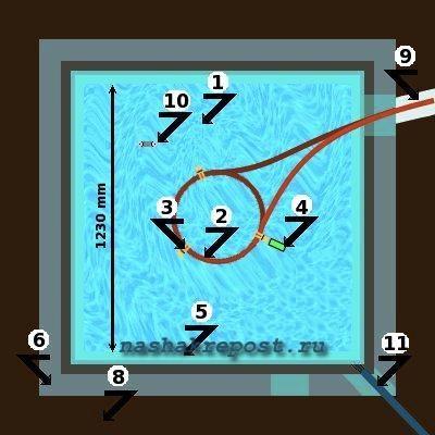 Схема электрическая дача.