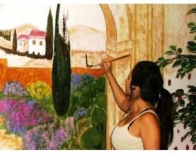 объемные рисунки на стенах