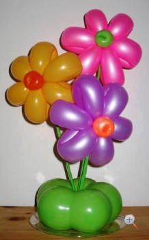 Цветы из  шаров своими руками— мастеркласс