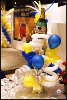 украшение стола шарами