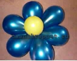 Цветок сделанный из шариков
