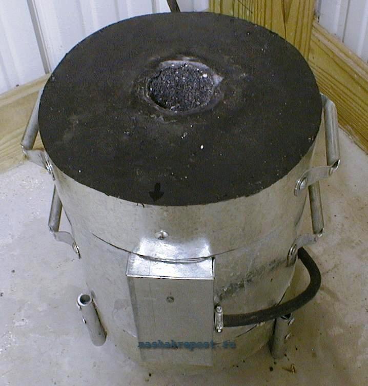 Муфельная печь на газе своими руками