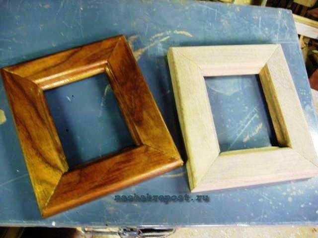 Как сделать рамку для картины из дерева