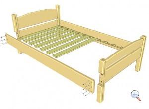 Сборка кровати из дерева