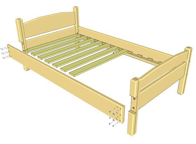 самодельная кровать из дерева фото