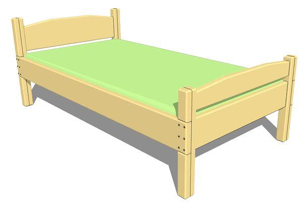 Схема простой кровати из