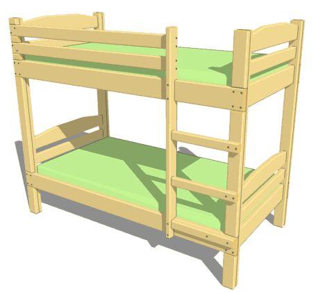 схема двухярусной кровати