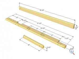 Планки  для лесенки двухярусной деревянной кровати