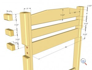 сборка деревянной кровати