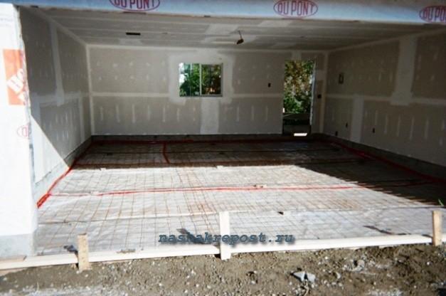 Подготовка основания под заливку пола гаража