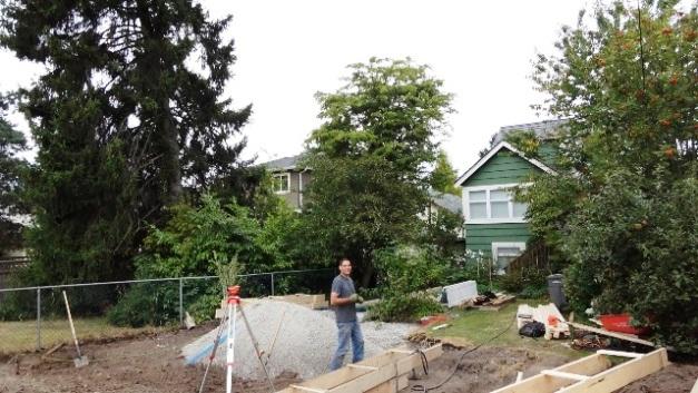 подготовка площадки под гараж