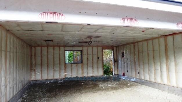 Утепление стен гаража минватой