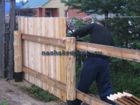Смотреть как сделать забор своими руками