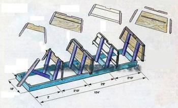 чертеж сборки лодки из дерева
