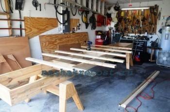Начало постройки деревянной лодки
