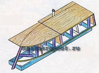 Схема сборки деревянной лодки