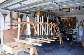 Сборка каркаса деревянной лодки