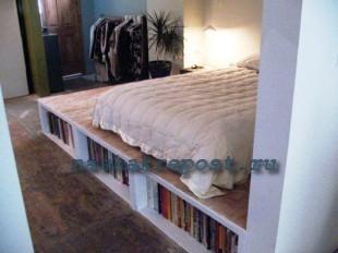 как построить кровать подиум