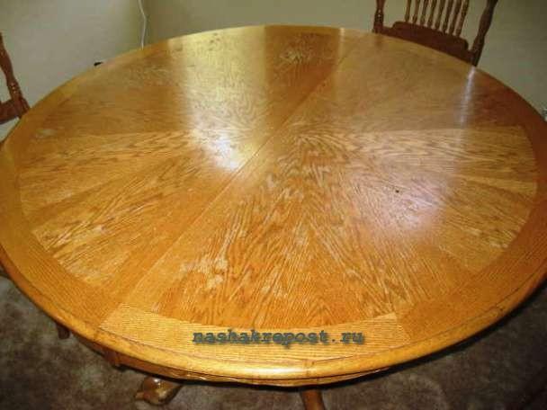 Реставрация раздвижного круглого стола своими руками 9