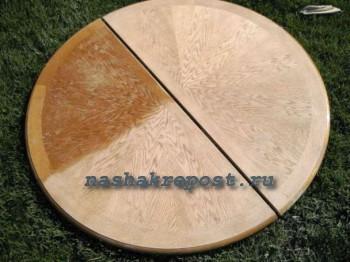 Проведение работ по реставрации деревянного стола