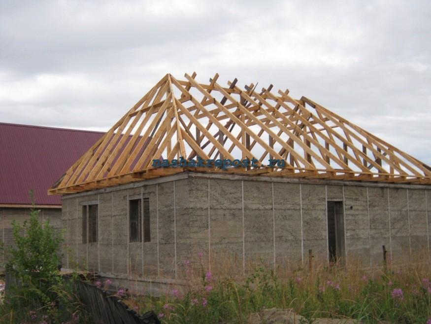 Крыша своими руками четырехскатная фото