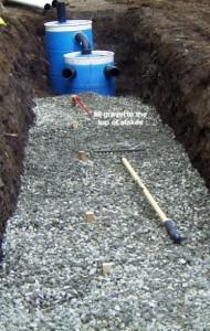 Гравийный слой для отвода канализационных стоков