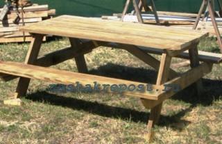 Садовый стол, сделанный своими руками