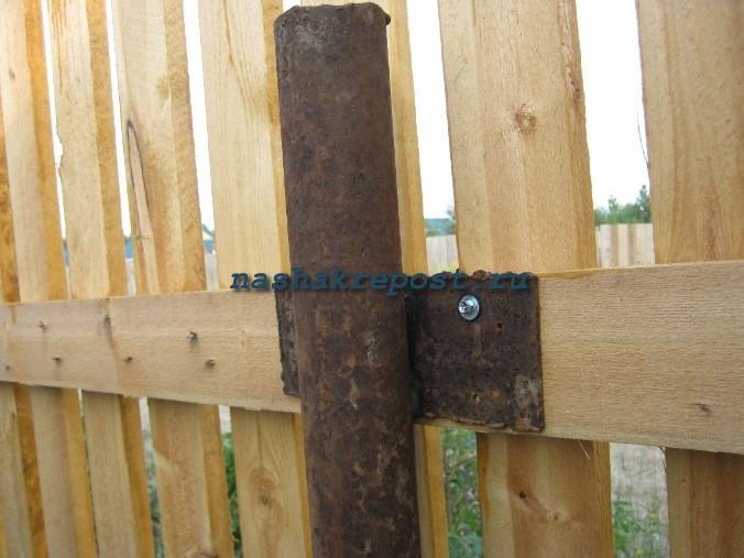 Забор на железных столбах своими руками 665
