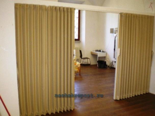 дверь гармошка из ткани