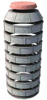Схема колодца из бетонных колец