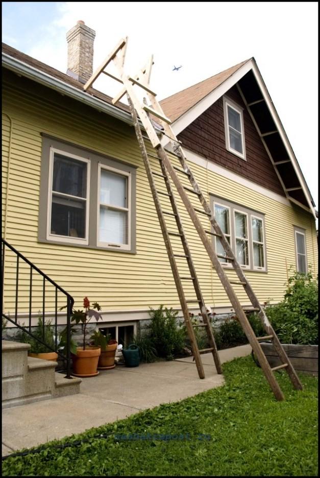 лестница для крыши своими руками фото