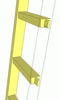 чертеж приставной лестницы