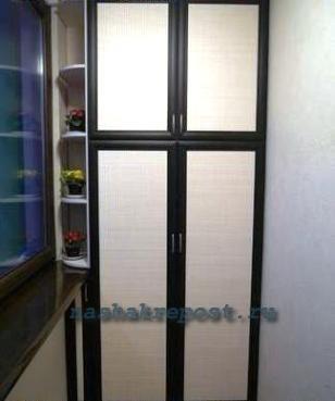 Сделать встроенный шкаф на балконе своими руками