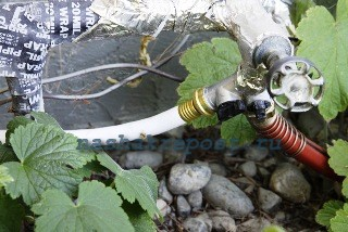 подключения воды для полива и мытья овощей