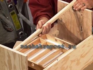 установка ручки ящика для инструментов