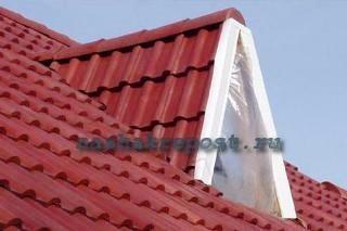 крыша для гаража из черепицы