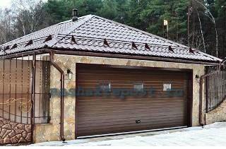 металлочерепица для крыши гаража