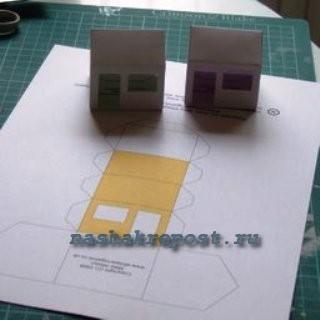 развертка простого домика из бумаги