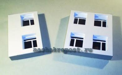 как сделать из бумаги макеты домов