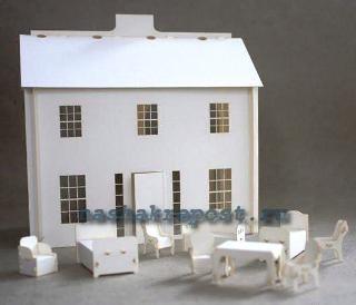 Сложный макет дома из бумаги