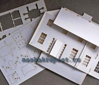 как сделать макет дома из бумаги