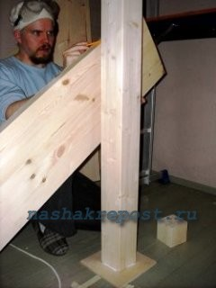 разметка конструцкии лестницы